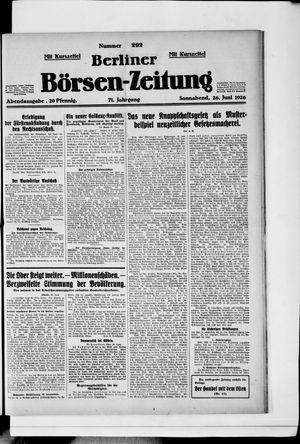 Berliner Börsen-Zeitung vom 26.06.1926