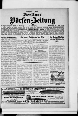 Berliner Börsen-Zeitung vom 27.06.1926