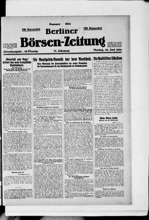Berliner Börsen-Zeitung vom 28.06.1926