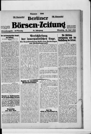Berliner Börsen-Zeitung vom 29.06.1926