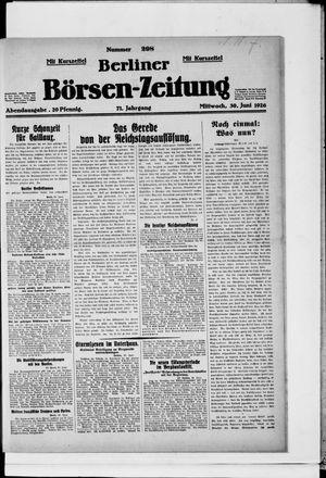Berliner Börsen-Zeitung vom 30.06.1926