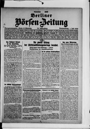 Berliner Börsen-Zeitung vom 01.07.1926