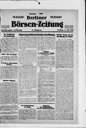 Berliner Börsen-Zeitung vom 02.07.1926