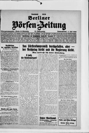 Berliner Börsen-Zeitung vom 03.07.1926