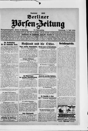 Berliner Börsen-Zeitung vom 04.07.1926