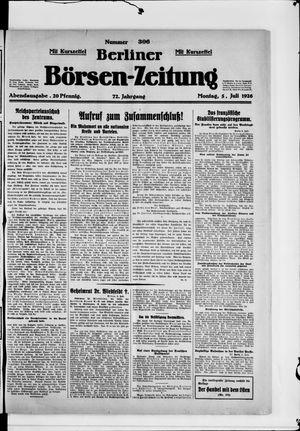 Berliner Börsen-Zeitung vom 05.07.1926