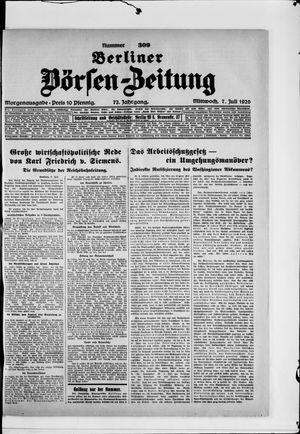 Berliner Börsen-Zeitung vom 07.07.1926