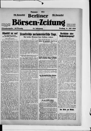 Berliner Börsen-Zeitung vom 09.07.1926