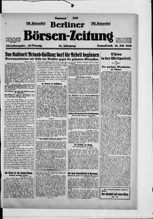 Berliner Börsen-Zeitung vom 10.07.1926