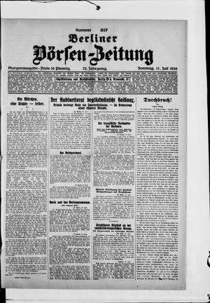 Berliner Börsen-Zeitung vom 11.07.1926