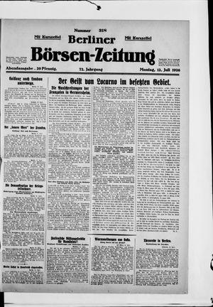 Berliner Börsen-Zeitung vom 12.07.1926