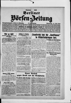 Berliner Börsen-Zeitung vom 13.07.1926