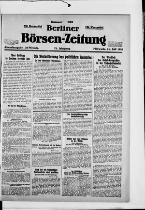 Berliner Börsen-Zeitung vom 14.07.1926