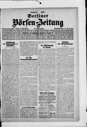 Berliner Börsen-Zeitung vom 15.07.1926