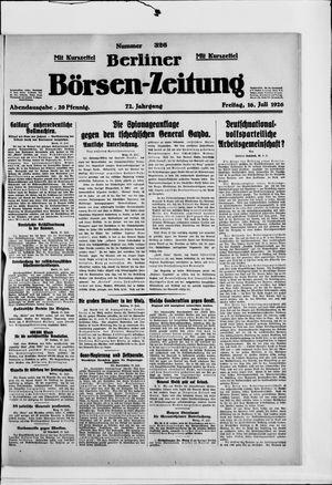 Berliner Börsen-Zeitung vom 16.07.1926