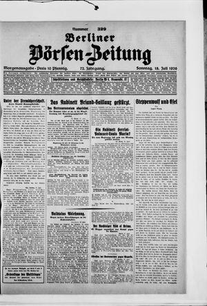 Berliner Börsen-Zeitung vom 18.07.1926