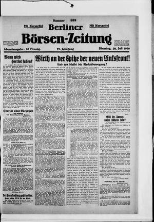 Berliner Börsen-Zeitung vom 20.07.1926