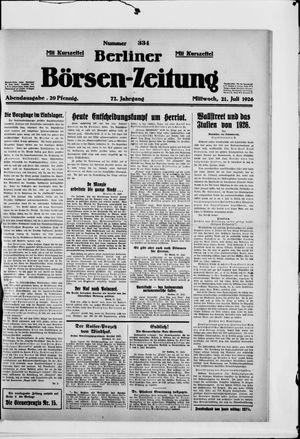 Berliner Börsen-Zeitung vom 21.07.1926