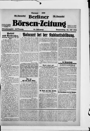 Berliner Börsen-Zeitung vom 22.07.1926