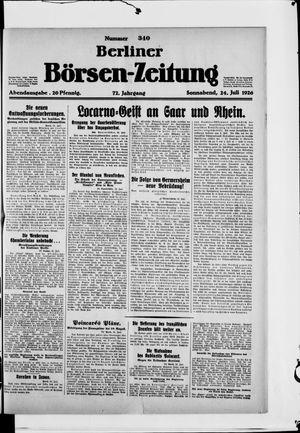 Berliner Börsen-Zeitung vom 24.07.1926