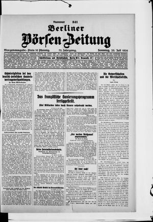 Berliner Börsen-Zeitung vom 25.07.1926