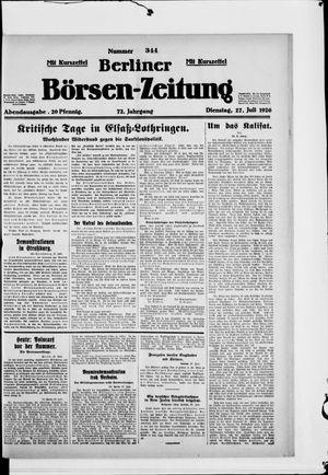 Berliner Börsen-Zeitung vom 27.07.1926
