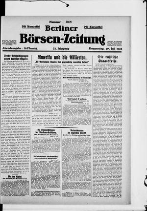 Berliner Börsen-Zeitung vom 29.07.1926