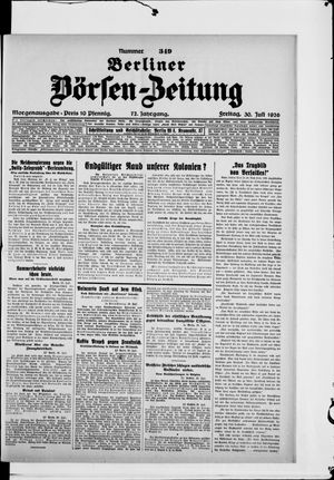 Berliner Börsen-Zeitung vom 30.07.1926
