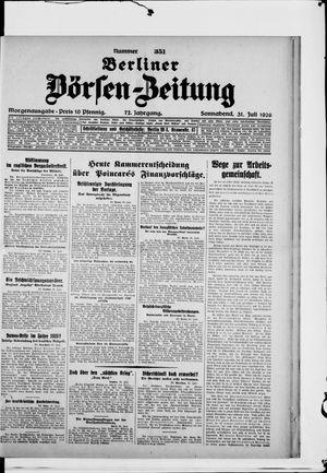 Berliner Börsen-Zeitung vom 31.07.1926