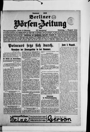 Berliner Börsen-Zeitung vom 01.08.1926