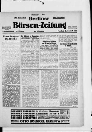 Berliner Börsen-Zeitung vom 02.08.1926