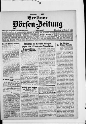 Berliner Börsen-Zeitung vom 03.08.1926