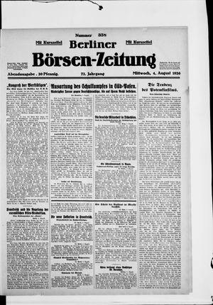 Berliner Börsen-Zeitung vom 04.08.1926