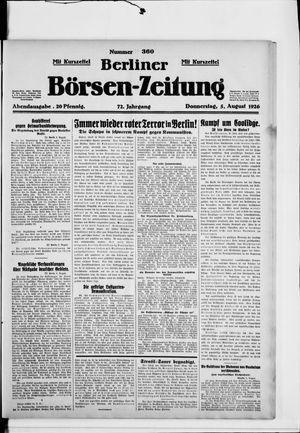 Berliner Börsen-Zeitung vom 05.08.1926