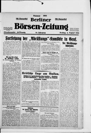 Berliner Börsen-Zeitung vom 06.08.1926