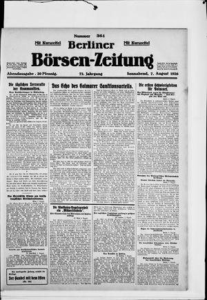Berliner Börsen-Zeitung vom 07.08.1926