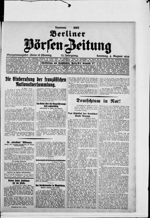 Berliner Börsen-Zeitung vom 08.08.1926