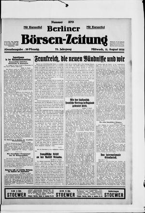 Berliner Börsen-Zeitung vom 11.08.1926