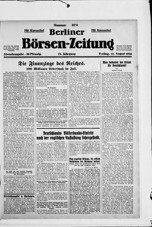 Berliner Börsen-Zeitung vom 13.08.1926