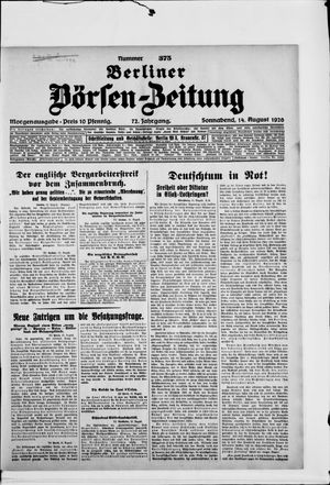 Berliner Börsen-Zeitung vom 14.08.1926