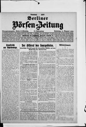 Berliner Börsen-Zeitung vom 15.08.1926