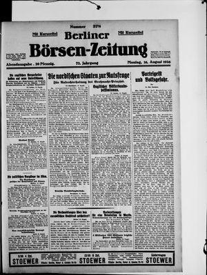 Berliner Börsen-Zeitung vom 16.08.1926