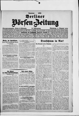 Berliner Börsen-Zeitung vom 17.08.1926