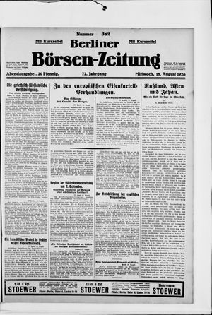 Berliner Börsen-Zeitung vom 18.08.1926