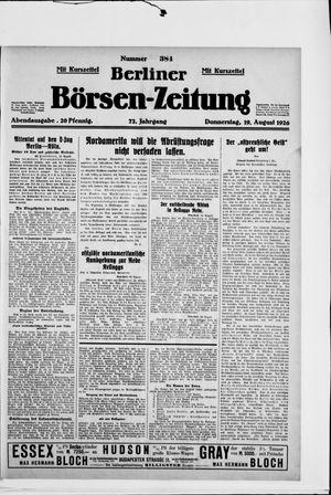 Berliner Börsen-Zeitung vom 19.08.1926