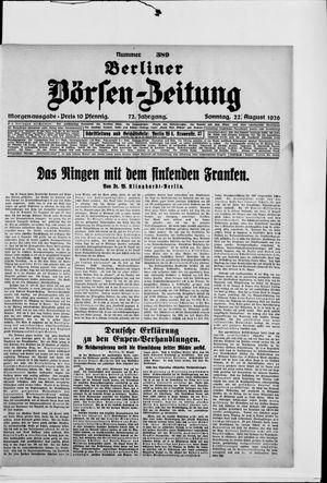 Berliner Börsen-Zeitung vom 22.08.1926