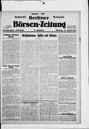Berliner Börsen-Zeitung vom 24.08.1926