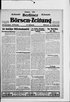 Berliner Börsen-Zeitung vom 25.08.1926