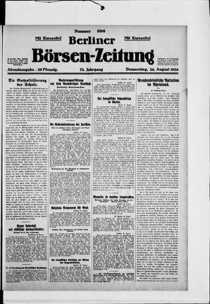Berliner Börsen-Zeitung vom 26.08.1926