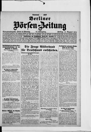 Berliner Börsen-Zeitung vom 27.08.1926